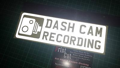 Reflective Dash Cam Recording Sticker X1 Car Van Lorry